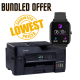 Bundled Offer Brother MFC-T4500DW All-in-One Inktank Refill System Printer with Wi-Fi and Auto Duplex Printing Free Fire Boltt BSW001 Smartwatch