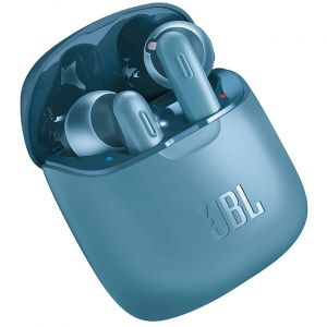 JBL Tune 220TWS True Wireless in-Ear Headphones with 19 Hours Playtime, Stereo Calls & Bluetooth 5.0 (Blue)